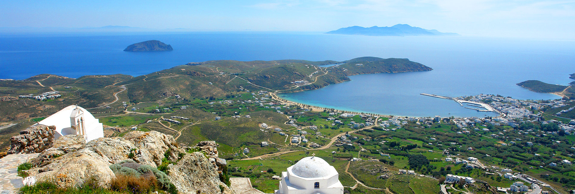 Panoramic image of Livadi in Serifos