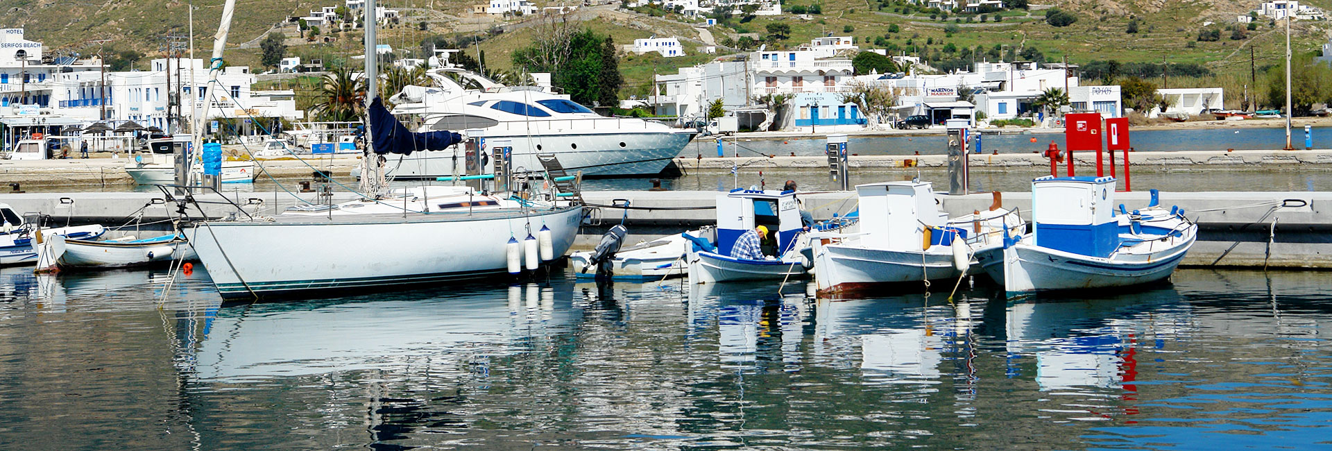 Livadi, the port of Serifos