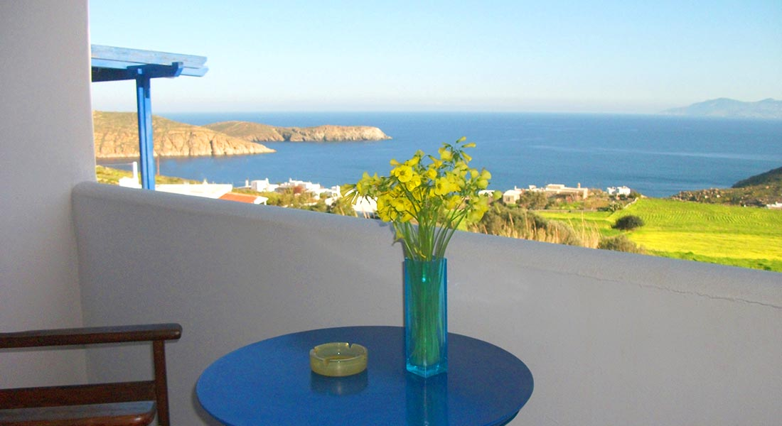 Maroussa's apartments at Serifos